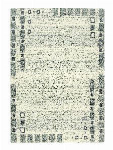 Bild: Astra Hochflor Teppich Rivoli - Bordüre Kästchen (Grau; 290 x 200 cm)