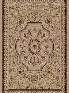 Bild: Bordürenteppich Marrakesh - Florals - (Beige)