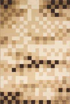 Bild: Kurzflor Teppich Pisa - Würfel - (Beige)