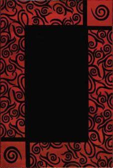 Bild: Morderner Bordürenteppich Panda - (Rot)