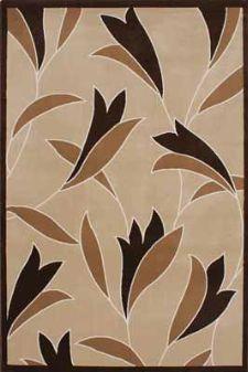 Bild: Blumen Teppich Panda - (Beige)