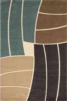 Bild: Teppich Florenz - Funny Stripes - (Blau)