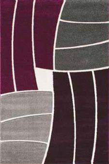 Bild: Teppich Florenz - Funny Stripes - (Lila)