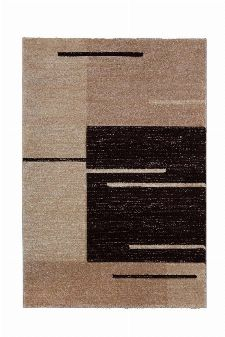 Bild: Teppich Florenz - Lines Up - (Braun)