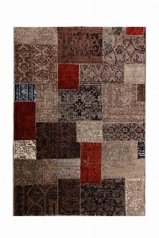 Bild: Patchwork Teppich - (Beige; 120 x 170 cm)
