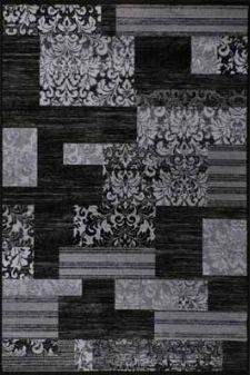 Bild: Teppich Patchwork Art - (Schwarz)