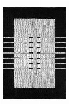 Bild: Flachgewebe Teppich Structure (Grau; 80 x 150 cm)