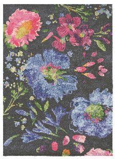 Bild: Bluebellgray Schurwollteppich Kippen 18705 (Bunt; 200 x 280 cm)