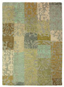 Bild: Designer Vintageteppich Yara Patchwork 194001 (Creme; 140 x 200 cm)