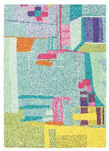 Bild: Designer Schurwollteppich Amal 19707 (Bunt; 250 x 350 cm)