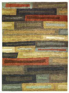 Bild: Designer Schurwollteppich Yara Bricks 199705 (Dunkelbraun; wishsize)