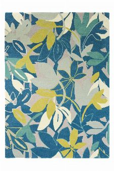 Bild: Scion Schurwollteppich Baja (Blau; 140 x 200 cm)