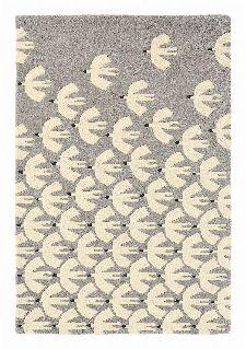 Bild: Scion Schurwollteppich Pajaro (Grau; 120 x 180 cm)
