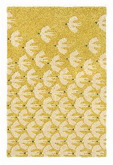 Bild: Scion Schurwollteppich Pajaro (Gelb; 140 x 200 cm)