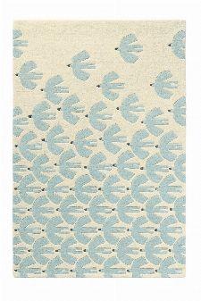 Bild: Scion Schurwollteppich Pajaro (Blau; 90 x 150 cm)