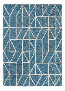 Bild: Scion Schurwollteppich Viso (Blau; 140 x 200 cm)