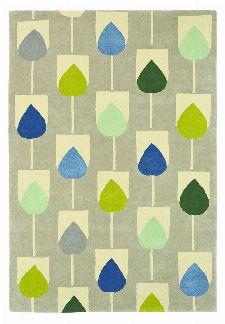 Bild: Scion Schurwollteppich Sula (Pacific; 170 x 240 cm)