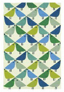 Bild: Scion Schurwollteppich Lintu (Pacific; 90 x 150 cm)