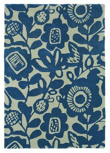 Bild: Scion Schurwollteppich Kukkia (Ink; 200 x 280 cm)