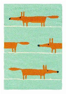 Bild: Teppich Mr Fox (Blau; 90 x 150 cm)