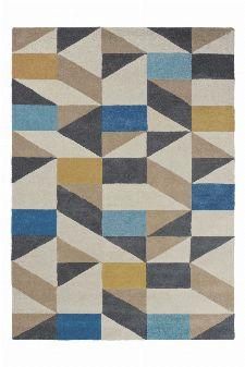 Bild: Scion Schurwollteppich Nuevo (Blau; 140 x 200 cm)