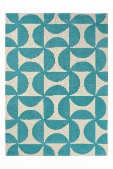 Bild: Scion Schurwollteppich Forma (Türkis; 200 x 280 cm)