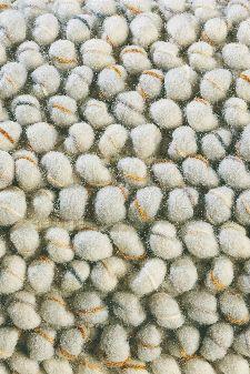 Bild: Designer Webteppich Cobble (Hellgrau; 250 x 350 cm)