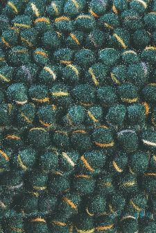 Bild: Designer Webteppich Cobble (Grün; 140 x 200 cm)