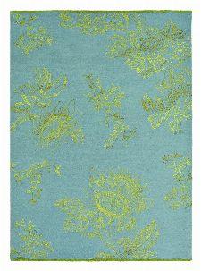 Bild: Schurwollteppich Tonquin (Blau; 170 x 240 cm)