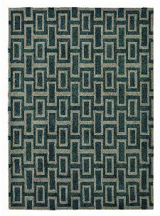 Bild: Retro Teppich Intaglio (Schwarz; 200 x 280 cm)