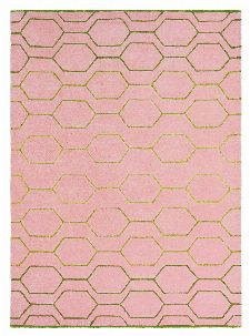 Bild: Retro Teppich Arris (Pink; 250 x 350 cm)