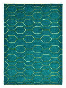 Bild: Retro Teppich Arris (Türkis; 120 x 180 cm)