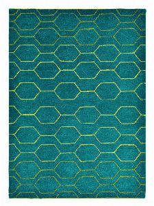 Bild: Retro Teppich Arris (Türkis; 200 x 280 cm)
