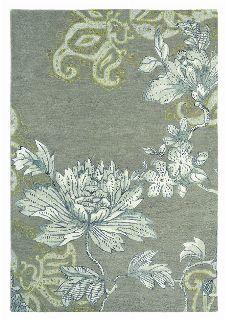 Bild: Schurwollteppich Fable Floral (Grau; 170 x 240 cm)
