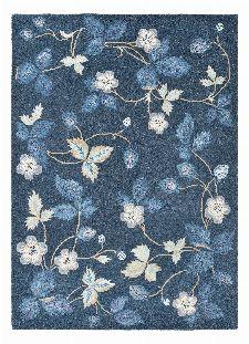 Bild: Wedgwood Designer Teppich Wild Strawberry (Navy; 200 x 280 cm)