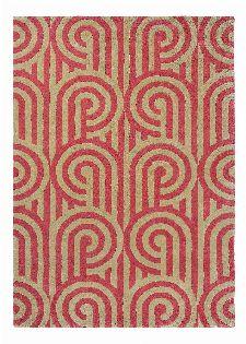 Bild: Florence Broadhurst Designerteppich Turnabouts (Himbeere; 120 x 180 cm)