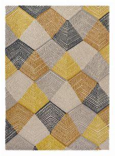 Bild: Harlequin Wollteppich Rhythm 40906 (Saffron; 140 x 200 cm)