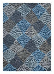 Bild: Harlequin Wollteppich Rhythm 40908 (Indigo; 140 x 200 cm)