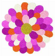 Bild: Teppich Funky Flower (Rosa; 140 x 140 cm)