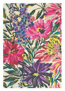 Bild: Wollteppich Floreale (Rosa; 140 x 200 cm)