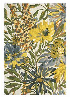 Bild: Wollteppich Floreale (Gelb; 140 x 200 cm)