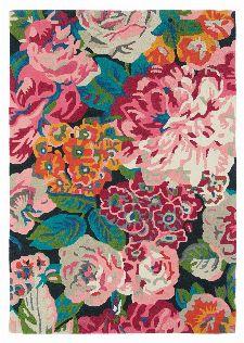 Bild: Schurwollteppich Rose & Peony (Bunt; 200 x 280 cm)