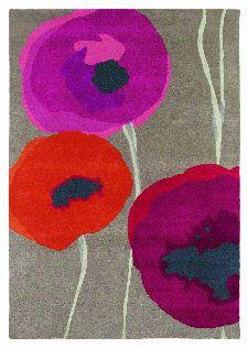 Bild: Teppich Poppies (Rosa; 140 x 200 cm)