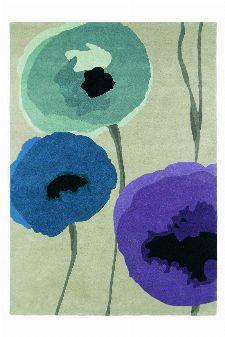 Bild: Sanderson Teppich Poppies (Lila; 140 x 200 cm)