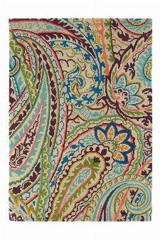 Bild: Wollteppich Kashmir (Grün; 170 x 240 cm)