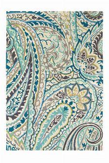 Bild: Wollteppich Kashmir (Blau; 200 x 280 cm)