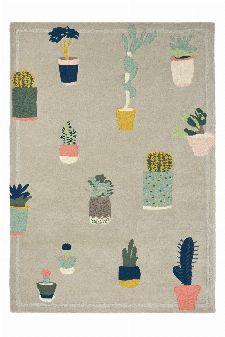 Bild: Ted Baker Schurwoll Teppich Cactus (Grau; 170 x 240 cm)