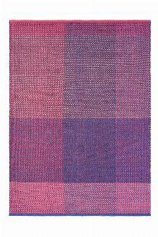 Bild: Ted Baker Schurwoll Teppich Check (Burgund; 170 x 240 cm)