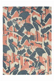 Bild: Ted Baker Wollteppich Cranes (Pink; 170 x 240 cm)