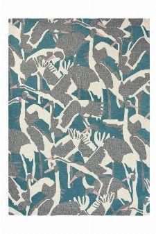 Bild: Ted Baker Wollteppich Cranes (Petrol; wishsize)